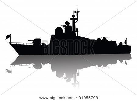 hoch detaillierte Schiff Kontur