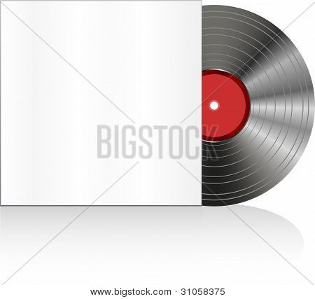 Black Vinyl Disc With Cover