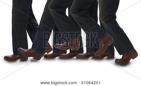 A Man taking one step forward