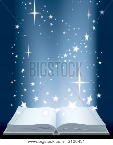 Book And Shining Stars