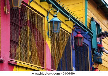 Coloured Lamps In La Boca