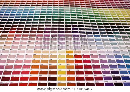 Guide of pantone colors