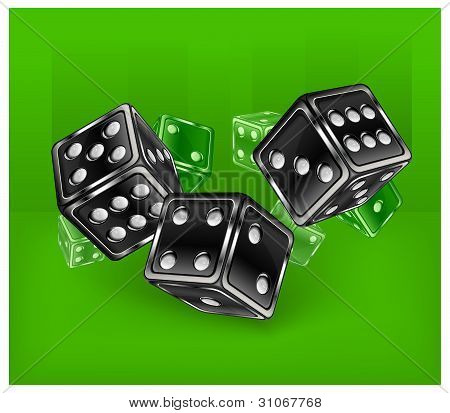 Dices On Green