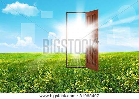 Open Door In Steppe
