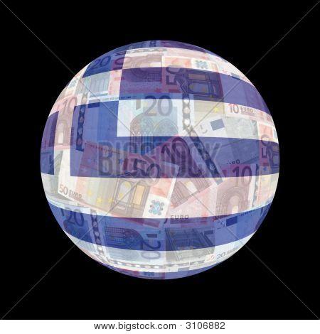Greek Flag On Euros