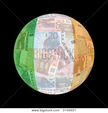 Irish Flag On Euros