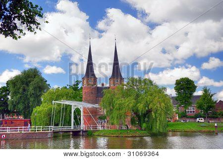 Delft historical center