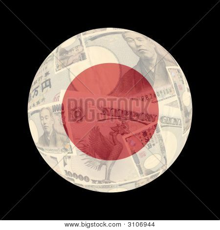 Japanese Flag On Currency