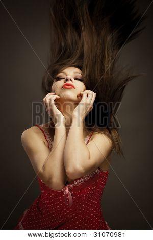 Dancing Brunette Girl