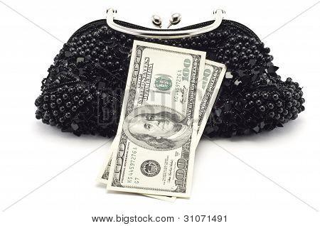 Dollars And Woman Bag
