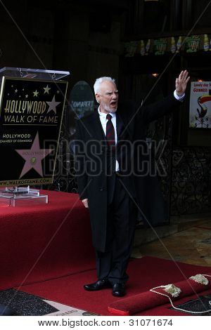 LOS ANGELES, CA - MAR 16: Malcolm McDowell at a ceremony where Malcolm McDowell is honored with a star on the Hollywood Walk of Fame on March 16, 2012 in Los Angeles, California