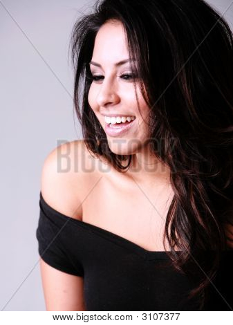 Laughing Hispanic Woman