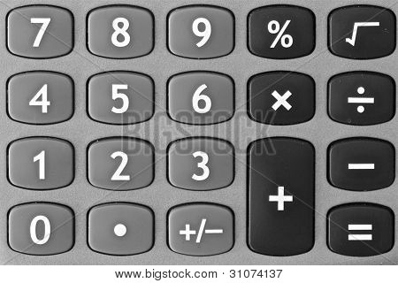 calculator keyboard monochrome