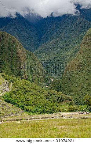 Looking Down From Machu Picchu