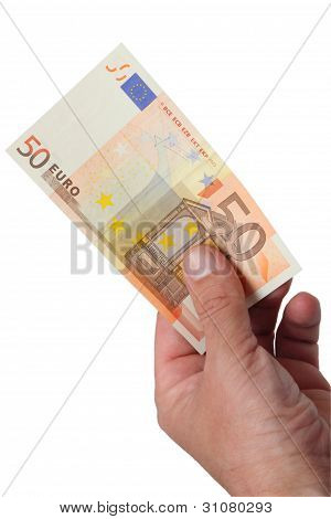 Banknotes In His Hand