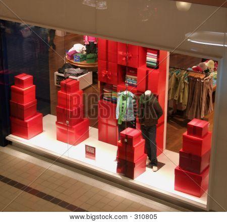 Exhibición de la tienda