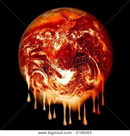 Burning Earth Melting