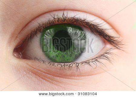 Children's eye closeup