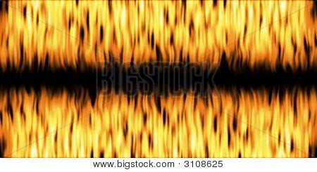 Las llamas encabezado doble
