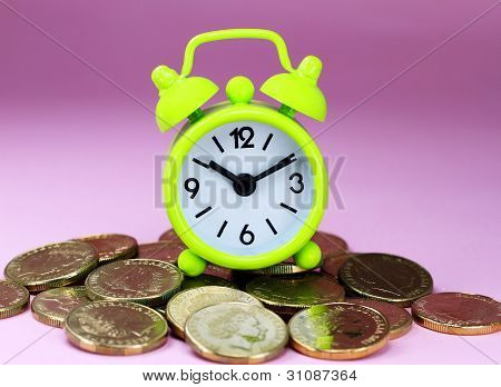 Lime Green Time Coinage