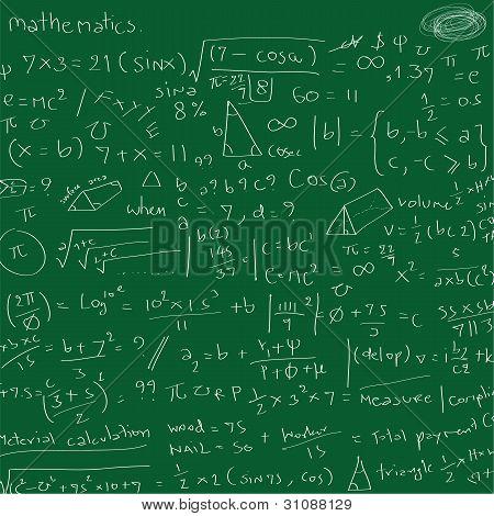 Vector illustration of mathematic