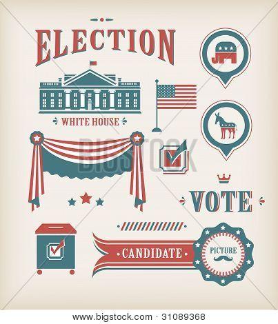 Conjunto de ícones de eleição EUA