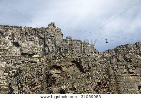 Kabine der Seilbahn auf den Tafelberg