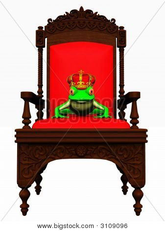 Frog Prince In Chair