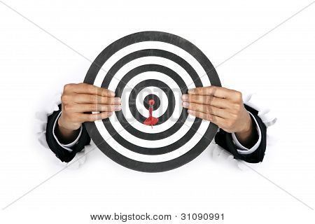 Businessman With A Dartboard