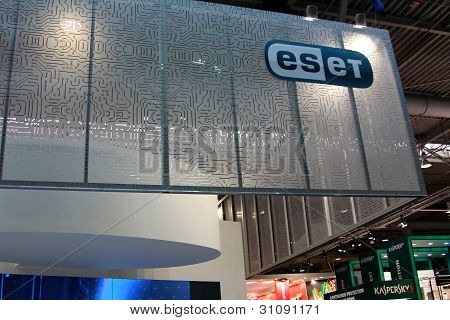 Hannover, Germany - March 10: Stand Of Eset On March 10, 2012 In Cebit Computer Expo, Hannover, Germ