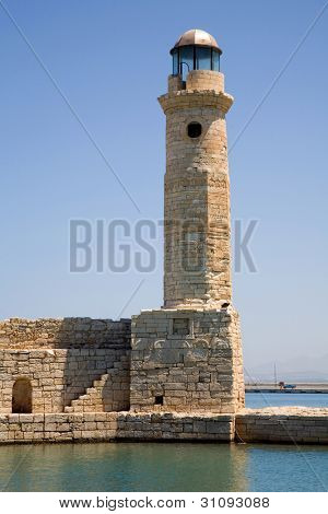 The lighthouse at the Venetian harbour, Rethymno