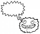 furry little creature cartoon poster
