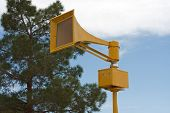 picture of raid  - Tornado air raid tsunami siren on pole - JPG
