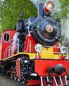 Old Soviet Steam Locomotive Blowing Off The Steam Out Of The Whistle poster