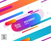 Online Accounting Line Icon. Audit Sign. Check Finance Symbol. Diagonal Abstract Banner. Linear Onli poster