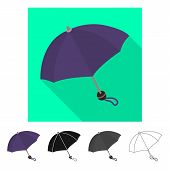 Vector Design Of Parasol And Spring Icon. Collection Of Parasol And Meteorology Stock Vector Illustr poster