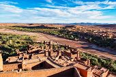 Ait Ben Haddou Or Ait Benhaddou Is A Fortified City Near Ouarzazate In Morocco. Ait Ben Haddou Is A  poster