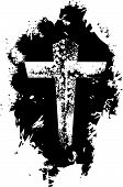 foto of christian cross  - Abstract grunge Christian cross background symbol icon - JPG