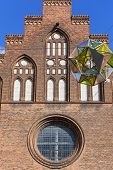 Copenhagen Maria Church, Facade With Great Colorful Light Sphere, Copenhagen, Denmark poster