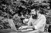 Guy Looking For Apartment. Find Apartment For Holidays Or Vacation. Planning Vacation. Man Bearded H poster