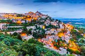 Arial View Of Gordes, A Small Medieval Town In Provence, France. poster