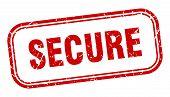Secure Stamp. Secure Square Grunge Sign. Secure poster