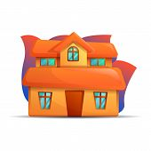 City House Icon. Cartoon Of City House Vector Icon For Web Design Isolated On White Background poster