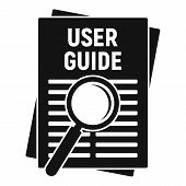 User Guide Papers Icon. Simple Illustration Of User Guide Papers Vector Icon For Web Design Isolated poster