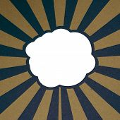 Retro Recycle Paper Banner With Cloud