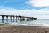 San Simeon Pier In California. Located Just Off Highway 1 Across From Hearst Castle, William Randolp poster