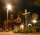 picture of vinnitsa  - night church in vinnitsa - JPG