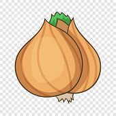 Whole Bulb Brown Onion Icon. Cartoon Illustration Of Whole Bulb Brown Onion Vector Icon For Web Desi poster