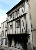 stock photo of poitiers  - Half timbered medieval houses in Poitiers - JPG