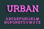 Urban Isolated English Alphabet. Vibrant 3d Letters Font. poster